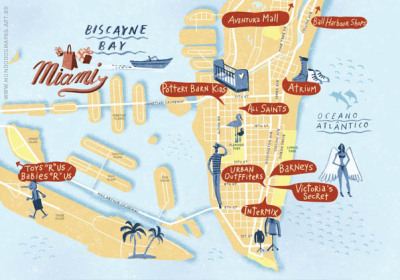 Mapa MIAMI, Revista Playboy, 2010.
