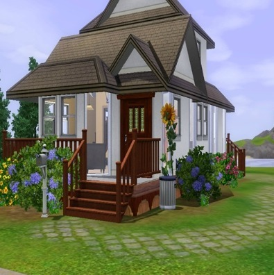 Cozy Bee Starter Home by HatakeSage is a great lot for single Sims or a Sim couple just starting out! Download & recommend today!