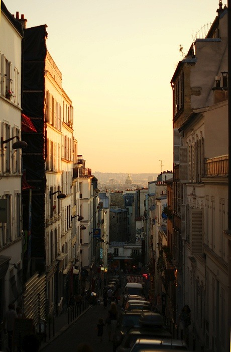 | ♕ |  Paris at dusk - Montmartre  | by © ania-maria | via ysvoice