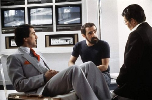 fuckyeahdirectors:  Martin Scorsese, Robert De Niro and Jerry Lewis on the set of The King of Comedy (1983).