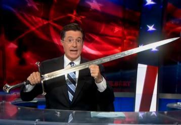 flavorpill:  'The Colbert Report' Geeks Out on 'The Hobbit' Next Week The Colbert Report will be presenting a multi-day Hobbit-themed program from December 3 to December 6, celebrating the December 14 release of Jackson's movie. According to the A.V. Club, guests will include: Ian McKellan (December 3), Martin Freeman (December 4), Andy Serkis (December 6), and Jackson himself (December 5).  I can't wait for Colbert's cameo.