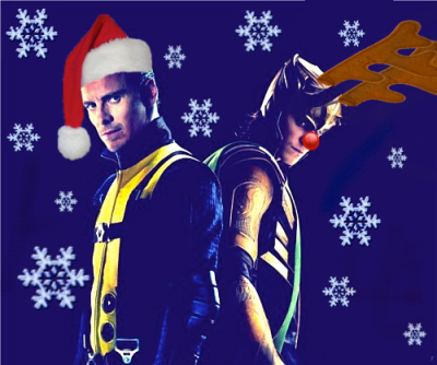 Merry Almost Christmas!♥ Your two favorite villains, Magneto and Loki