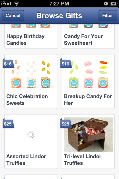 I love that Facebook added gifts for break ups