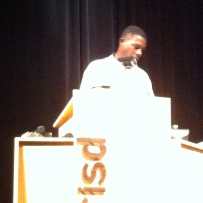 #GZA The cosmos rule everything around me @therealgza (at Risd Auditorium)