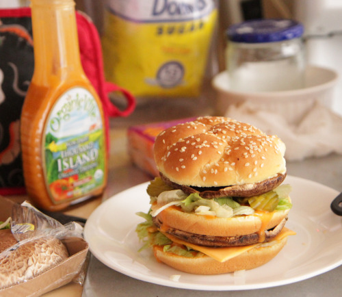 findvegan:   McDonalds Big Mac Burger Homemade Vegan!