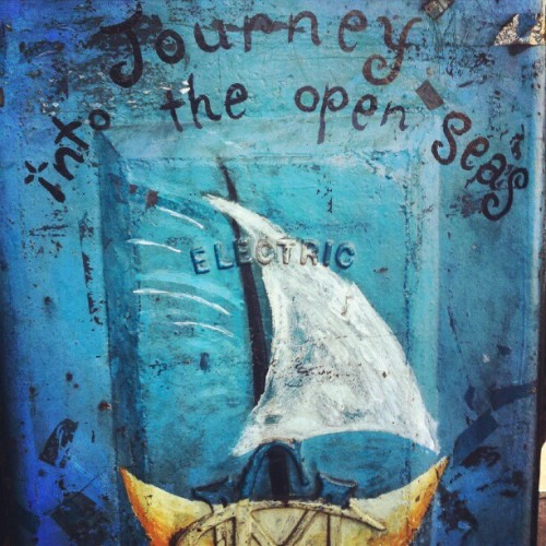 A whole new year arrives soon. A whole new journey into open seas. #streetart #Melbourne #art #journeyintoopenseas #painting #graffiti