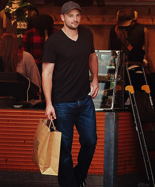 Tom Welling  on Thursday (November 29 2012) in West Hollywood, Calif.     THERE YOU ARE!!!! i've missed you!