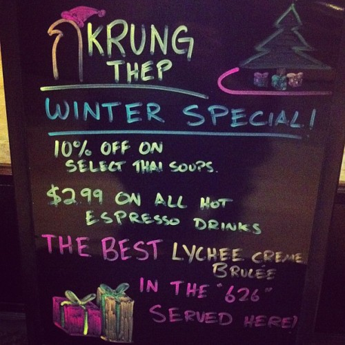 Winter special starts tonight ! Come visit ill hook it up ! #krungthep #626 #atlantictimessquare #visitmeimlonely #goodthaifood #unknown #626 #authentic  (at Krung Thep Thai)