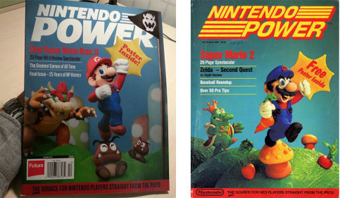 kotakucom:  On the left, the cover of the final issue of Nintendo Power magazine, a publication that's been running since the 80s. It's great on its own, but when you remember what the first issue of Nintendo Power looked like, on the right, it's enough to bring a tear to the eye.  WHY DID IT HAVE TO END?!?!?*CRIES*