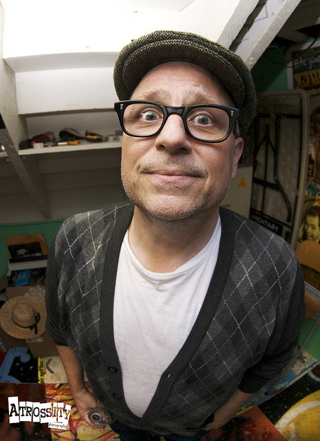 tylerross:  Bobcat Goldthwait on Flickr. Comedian/Screenwriter/Director/Actor, Bobcat Goldthwait backstage at Nerdist theater at the Meltdown Show at Meltdown Comics in Los Angeles, CA. Such an incredibly talented man. © Atrossity Photography  [Holy City Legend]