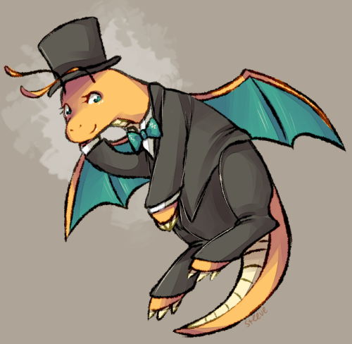 sirsteeve:   asksilverglow asked:  dragonite in a tux omg dragonite   girls in tuxes, done (HIGH RES PLEASE!)