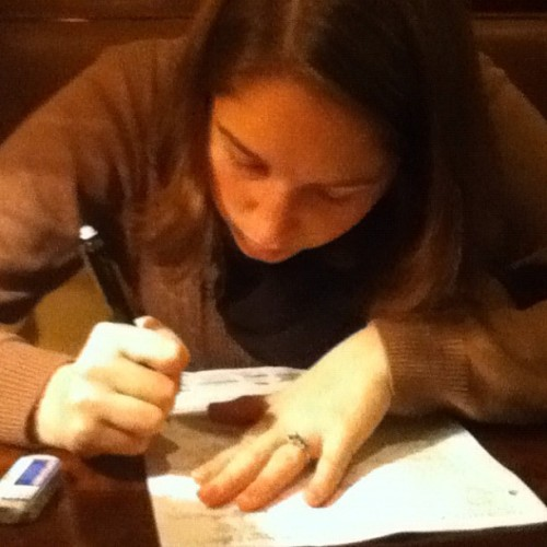 My sister trying to do my math homework. It is so entertaining to re-explain Calculus to her 😄