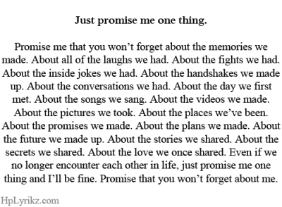 Promise me at least this. Please!!! :'((