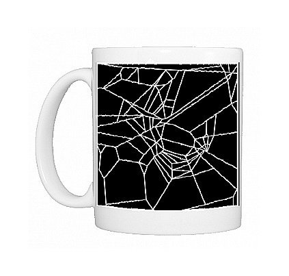 Showing the true power of caffeine, this photo-mug depicts what a web looks like after a spider has been exposed to it. So imagine how creative you'll be after drinking a whole bunch of coffee or tea from this mug full of creativity from the Science Photo Library (available in my Thinx Gifts Amazon store).