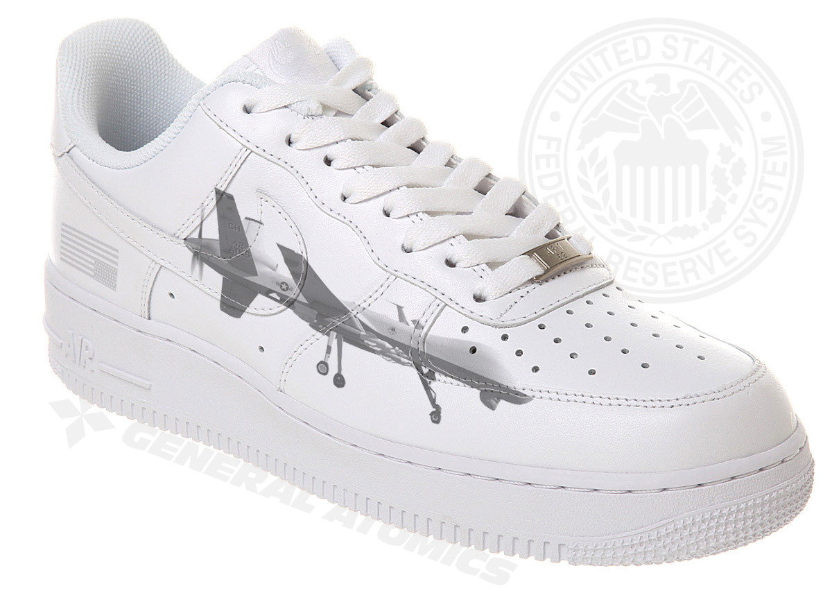 Reaper Drone X Nike Air X USA® (Sumptuous Anthrax White Edition), 2012 Limited edition sneaker ❜
