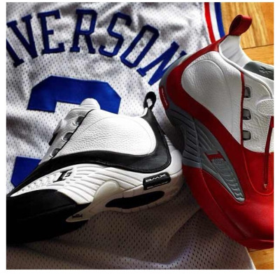 DROP ALERT: Reebok Classics Answer IV white/red drops today! 11/30. A.I. was wearin these when he crushed Vince Carter 51 pts back in the day! Pick yours up at any of the following retailers: Foot Locker, Finish Line, Jimmy Jazz, Champs, DTLR, & Shoe Palace.