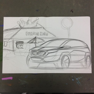 Going to Burger King bitches. #burgerking #drivethru #drawing #cars #art #doodle #design #burgerkingoptions