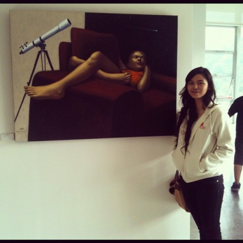 Sir #elmerborlongan 's artwork at Ben Cab Museum, Baguio City!  👏🎨😁 @emongsky #art #painting #oilpaint