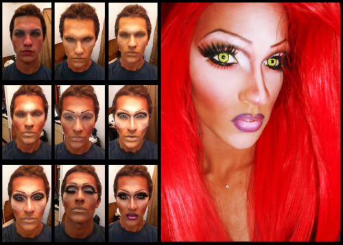 For everyone wondering how the drag transformation process looks (through pictures), here it is. Maybe I'll make a video soon. This is a Yara Sofia inspired look done on my face by my sister, Freeda Bone.