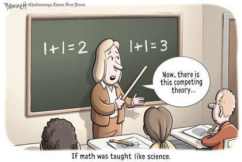 confrontingbabble-on:  To have to teach science, together with nonsense…is insanity