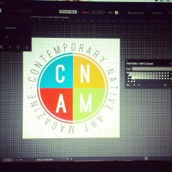 Logo Concept for Contemporary Native Art Magazine in Santa Fe, NM.
