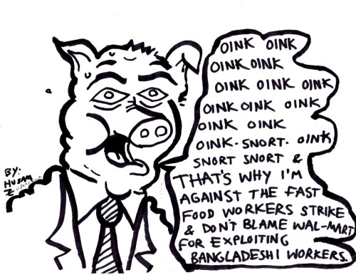 Pig Talks by Husam Zakharia #Workers #strike