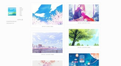 yeoli:   Theme 10 - Caffeu  Preview / Code Features: 250px or 300px posts one column or two columns optional infinite scroll optional show captions optional background and sidebar image customizable backgrounds/text/border colors etc. 3 custom links mini cursor