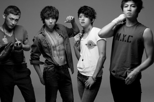 u-kissheart:  U-KISS Photoshoot for Nylon (DoraDora Era)-AJ, Hoon, Dongho & Soohyun CR:Naver