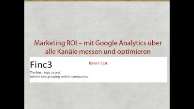 I gave a talk on ROI oriented Online Marketing recently at the first German Google Analytics Conference. If you would like to have the charts, give me a heads up.