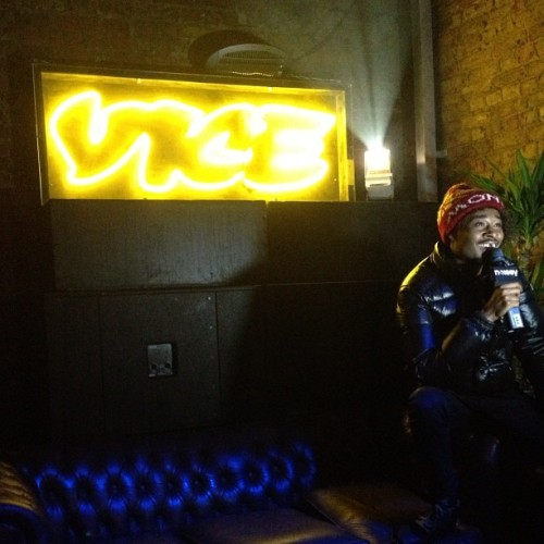 It's the 10th anniversary of Vice UK so they busted out the neon.