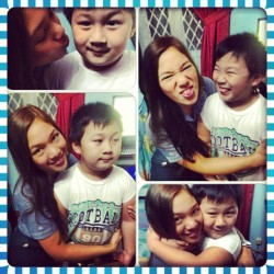 Doing wacky faces with Jabi. Haha is he adorable or what? #me #birthday #love #cute #smile #happy #wacky #instacollage