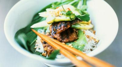 dietkiller:  Rice Noodles with Beef and Thai Vegetables