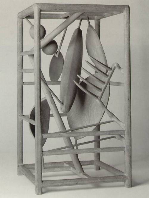 theories-of:  Alberto Giacometti - The Cage, 1930-31. Wood