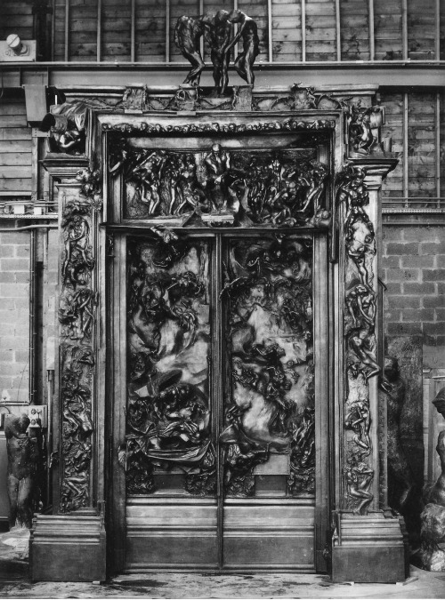 unknownacts:  The Gates of Hell (La Porte de l'Enfer) - Auguste Rodinsculpture, finished around 1917  I went to a Rodin Museum in Philadelphia a few years ago. There's one in Paris too, I wanted to visit it when we were there over the summer, but I didn't get a chance. Hopefully next time