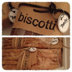 Buy a copy of Baking Out Loud and get a bag 'o biscotti. Details, location and time to be revealed 12/16 - National Chocolate Covered Anything Day (for real!)