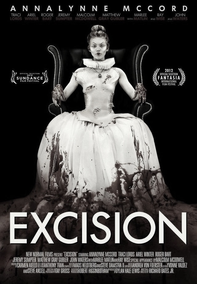 Excision (2012) R18+ A disturbed and delusional high school student with aspirations of a career in medicine goes to extremes to earn the approval of her controlling mother.  Paranoir review: a new favourite. I love my weird/abstract arty film festival mindfuck movies. The sort of movies you don't understand and leave you thinking. This movie was amazing and it's been nice to find another movie like this in the drought of quality horror movies.  Remember if you watch a movie you found through my reviews let me know what you thought!
