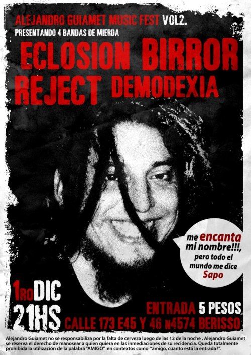 01 - 2012: Eclosión, Reject, Demodexia, Birror.