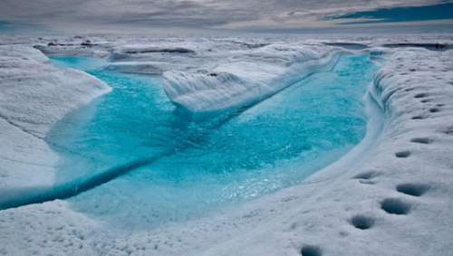 Loss of polar ice sheet acceleratingIce lost from Antarctica and Greenland accounts for .44 inches, or a fifth, of the 2.2 inches that the seas have risen on average since 1992.