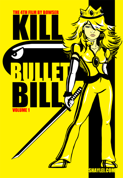 "logoside:  ""Kill Bullet Bill"", diseñaco de Shay Lei."