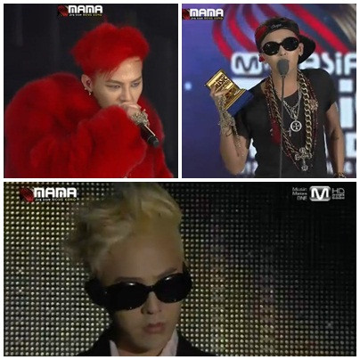 GD's hair transformation <3 MAMA 2012LOOOOOOOOVE IT dari blonde jadi merah, ga ngerti lagii, hahaha cr. @mnetglobal