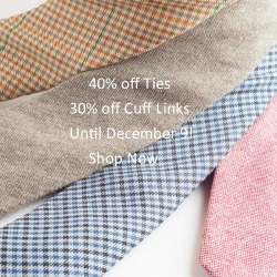 #ties & #cufflink sale for your holiday christmas shopping!