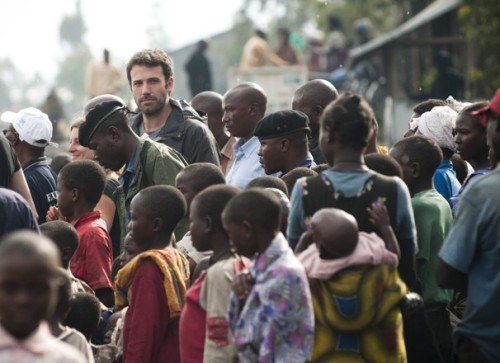 "According to Ben Affleck, the Democratic Republic of Congo urgently needs U.S. assistance. ""Talks among regional leaders are underway, and the M23 rebels have recently said they would withdraw from Goma,"" he writes in the Washington Post, ""But high-profile pressure from the United States can help stop the fighting and allow humanitarian aid to reach the people who desperately need it."" (photo by Barbara Kinney / Eastern Congo Initiative)"