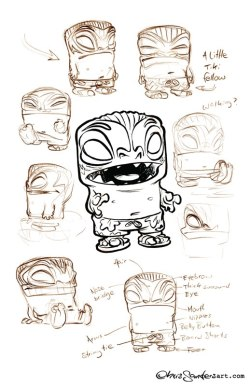 A Little Tiki Fellow ~Chris Sanders  (Can't get enough of Chris Sanders' style!)