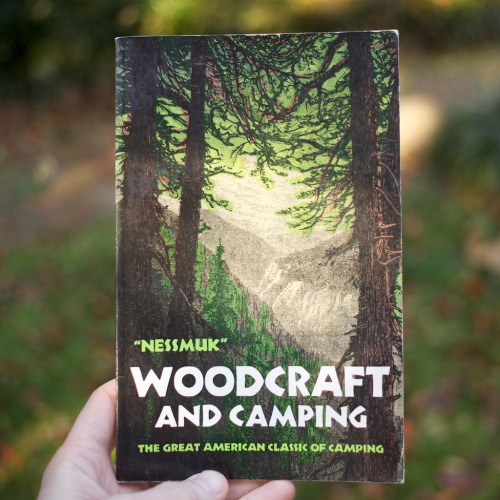 "cabinporn:  From our library: Woodcraft and Camping by George Washington Sears. An immediate hit when first published in 1884, Woodcraft outlines the practical lessons, gear and anecdotes of a 60-year-old Sears (under his penname ""Nessmuk"") as he tramps through the Adirondacks with his 10lb solo canoe named Sairy Gamp.    I'm gonna buy it!"