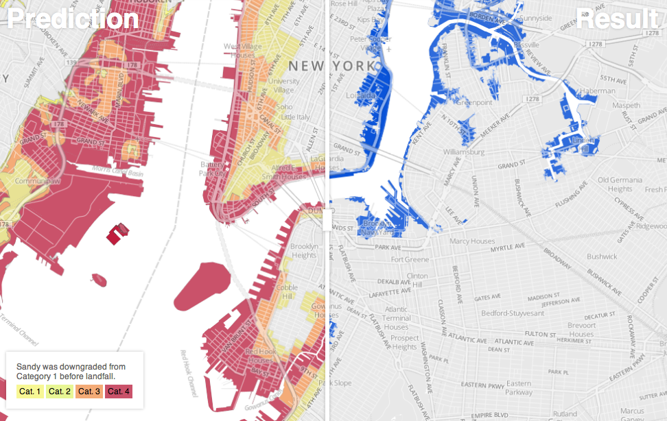 Check out this beautiful remix of our flood maps by Sha Hwang.  A couple of us got to see Sha present at the Visualized conference, and I was really moved by his sense of design and the world around him. So I was honored when he asked if he could use our map tiles for this experiment. I think it's a nice improvement on our interface. Click through to his interactive version. — John Keefe