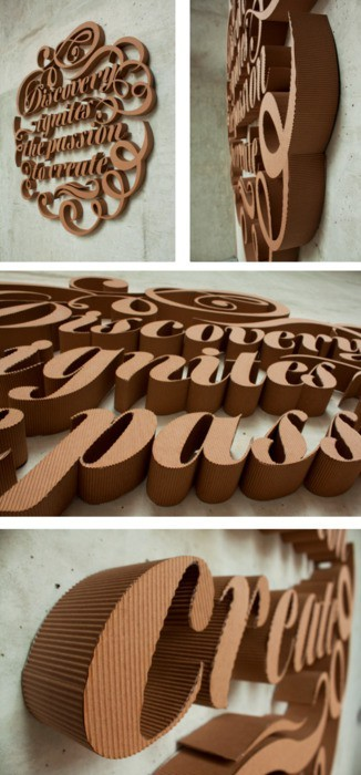 type-lovers:  cardboard type