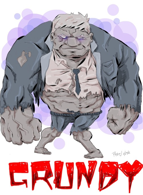 Solomon Grundy. Born on a Monday. All drawn on my iPad in procreate.