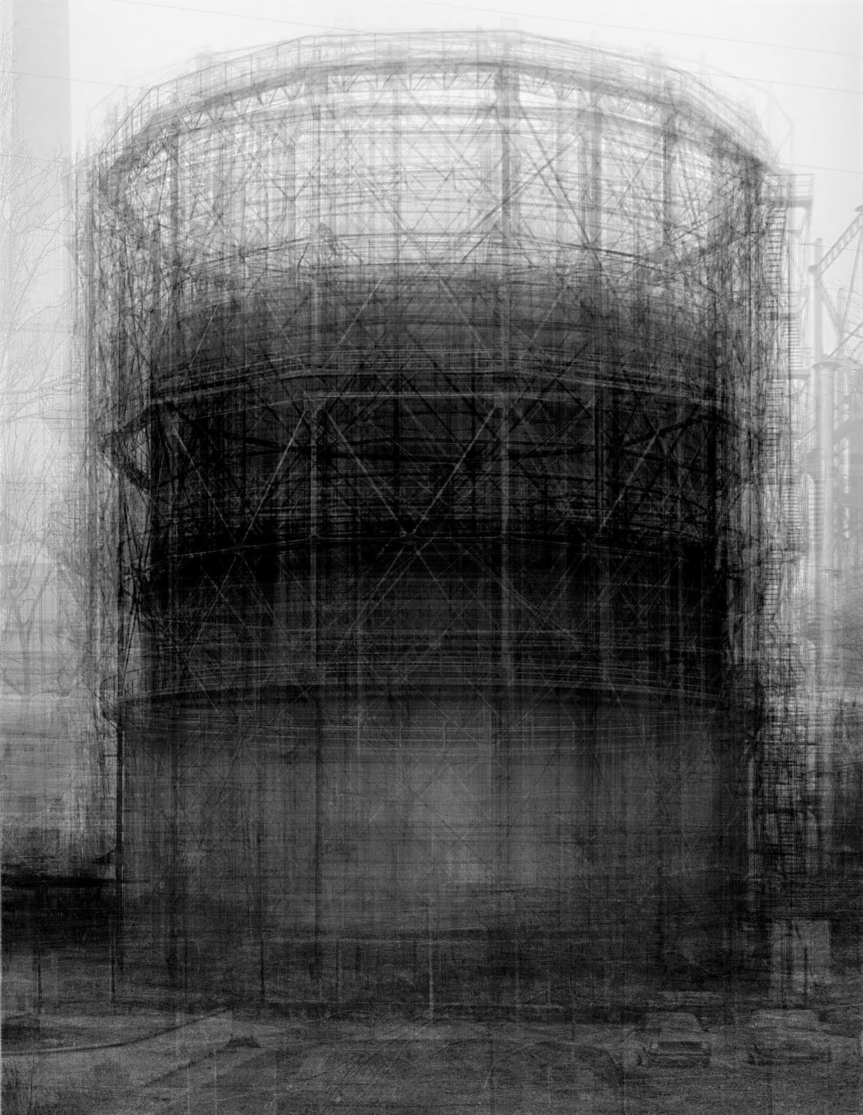 abstractieinfotografie:  Idris Khan – Homage to Bernd Becher (2007)