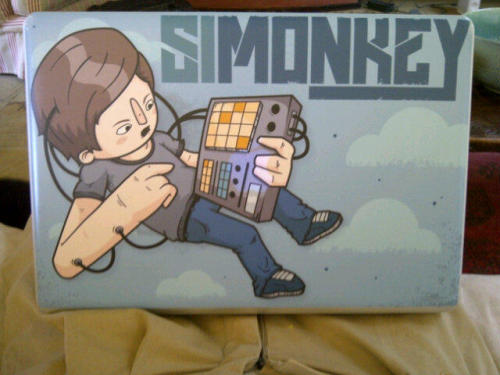 Did some artwork for Cape Town based dj SiMonkey's laptop. Not my usual style, but it was nice working with vector for a change.Keep an eye out for this at Plett Rage this year!