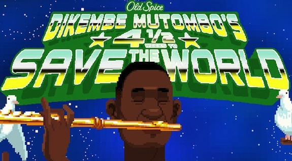 Dikembe Mutombo Saves The World In Old Spice's Goofy New Game